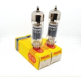 ECL82 - 6BM8 Philips Miniwatt NOS-NIB Pair (v4 - v5)