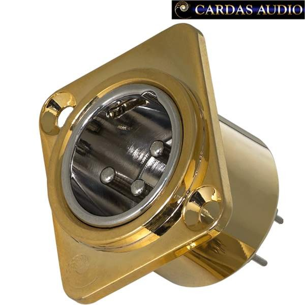 cardas xlr femmina pannello audiokit gold rodio